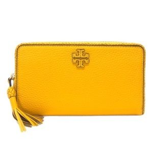 Tory Burch Taylor Zip Continental Wallet Yellow